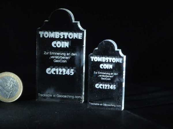 "Lost Geocoin ""The Tombstone Coin #3"""