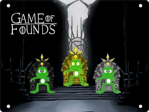 """Game of Founds"" CoinTableau für 3 Coins"