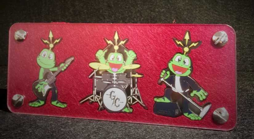"""Signal Rock Band Geocoin"" - Edition ""Green Carnage"" RE 100 - 3 Geocoins im Set"