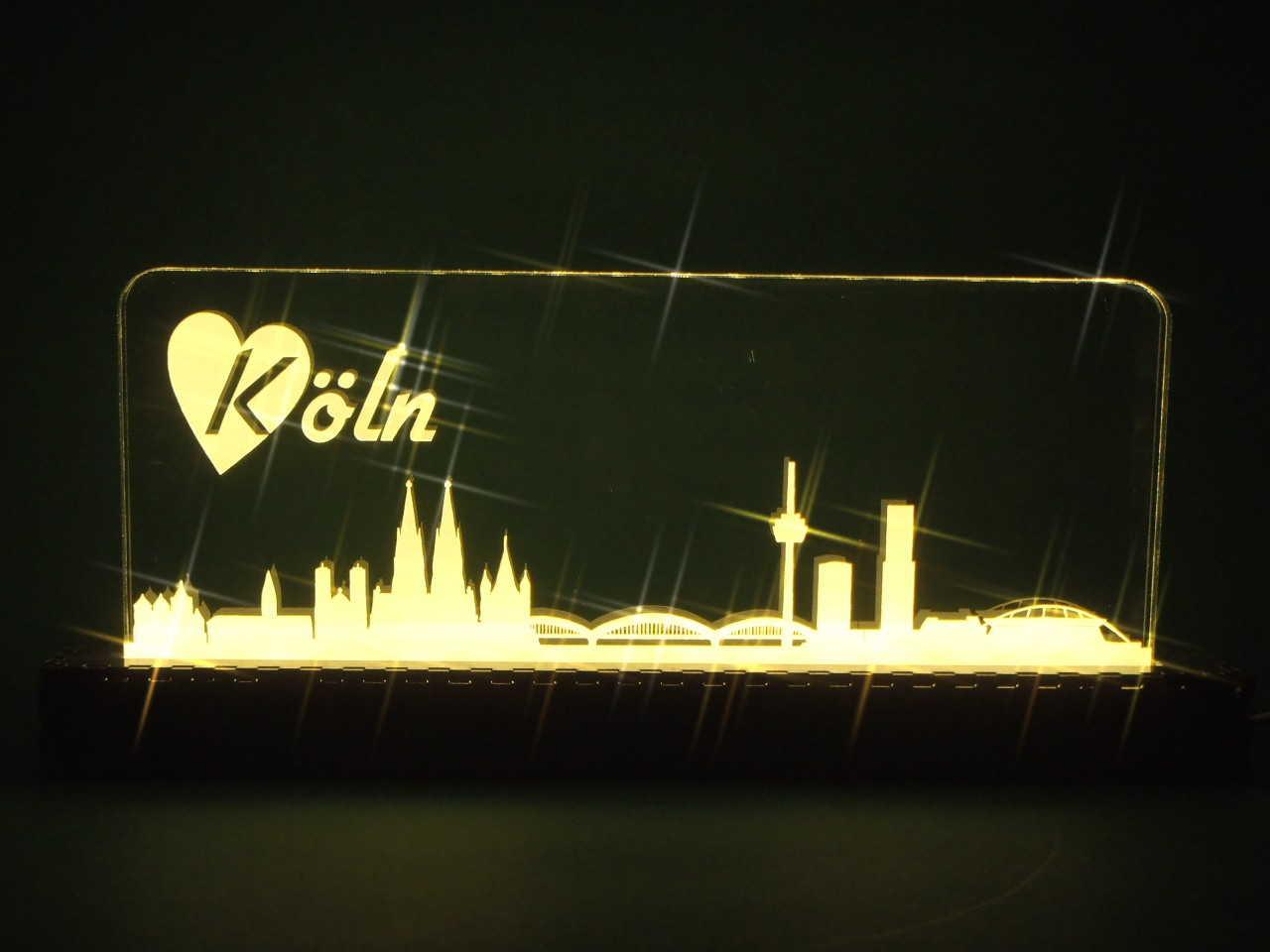 laserlogoshop lichtobjekt city skylight skyline k ln. Black Bedroom Furniture Sets. Home Design Ideas