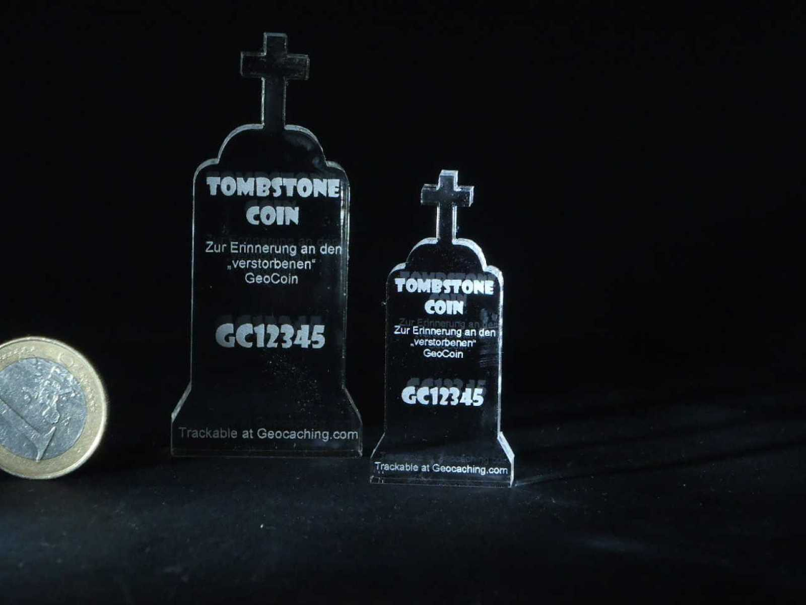 "Lost Geocoin ""The Tombstone Coin #2"""