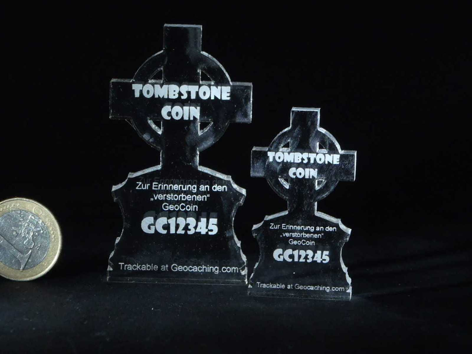 "Lost Geocoin ""The Tombstone Coin #4"""
