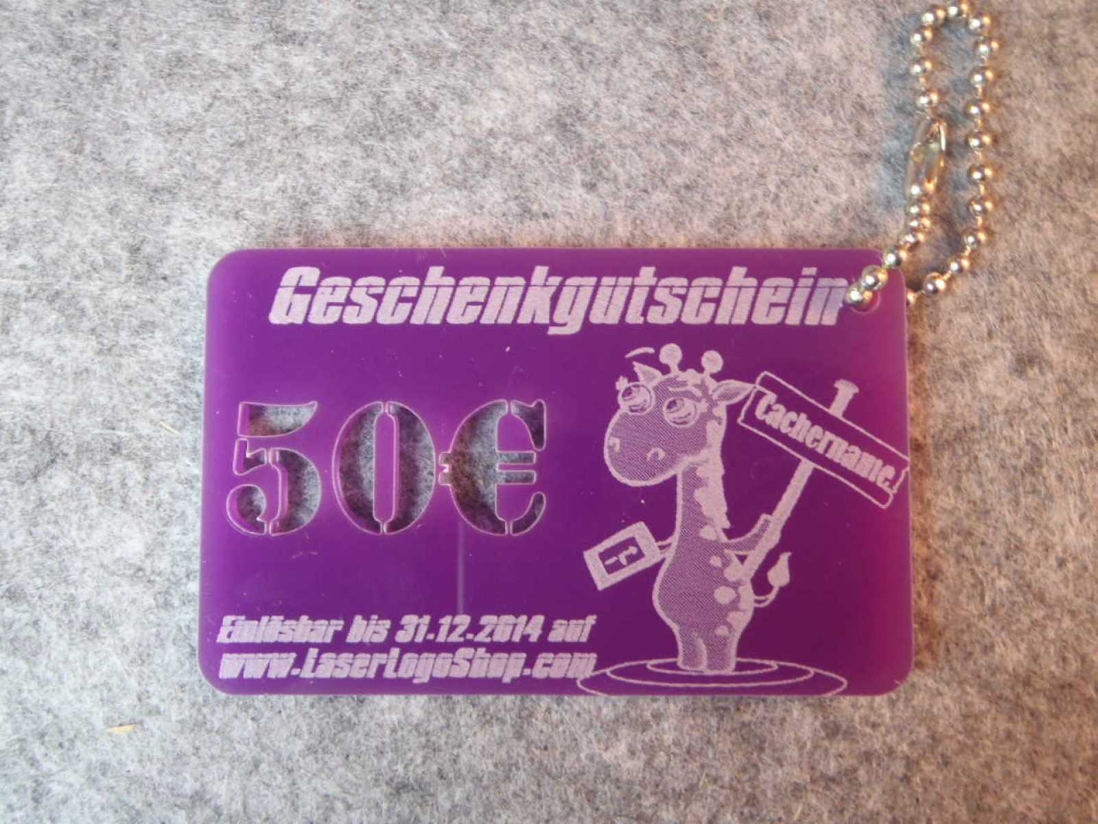 50¤ Purple GutscheinCard - GEOrgina