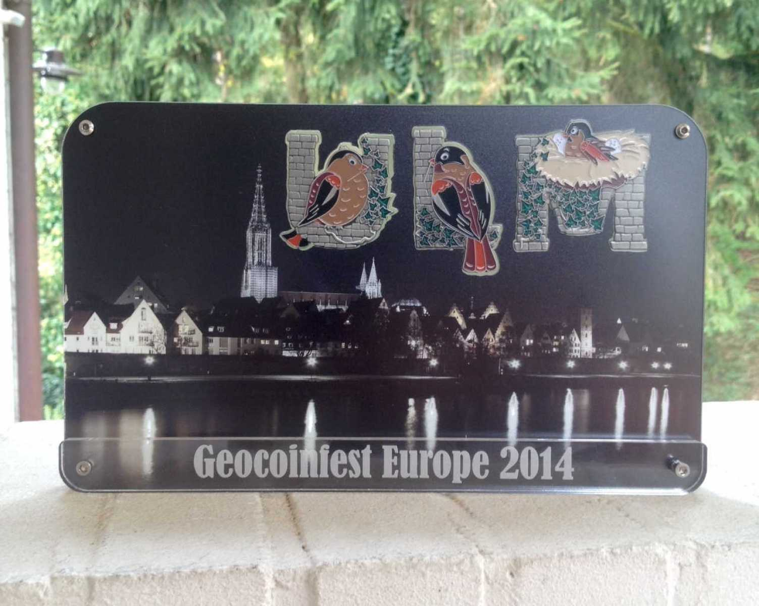 "GeoCoinCollector - European Geocoinfest 2014 Ulm ""Night Edition"""