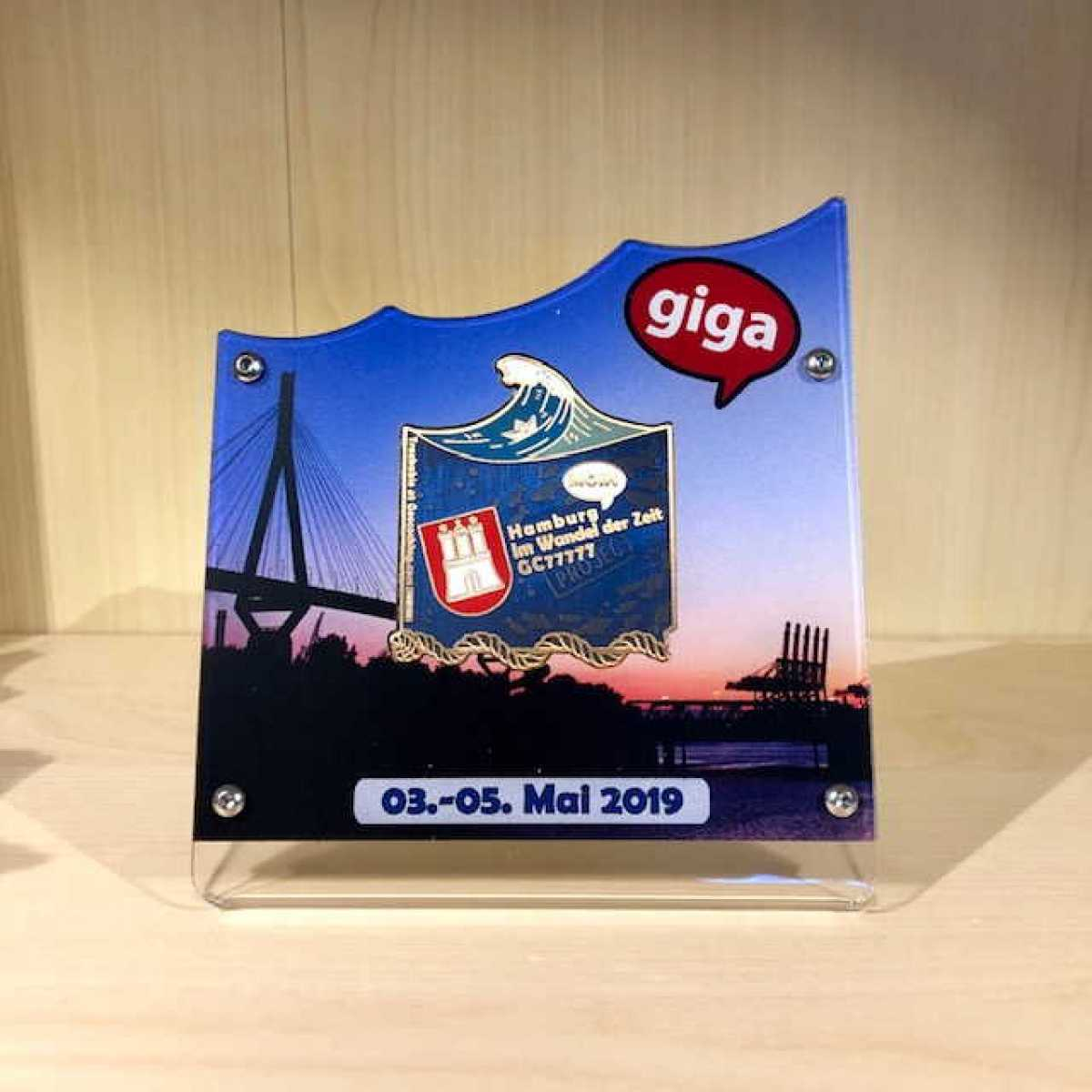 "GIGA Hamburg - 1er Display Eventcoin Motiv ""Köhlbrandbrücke"""