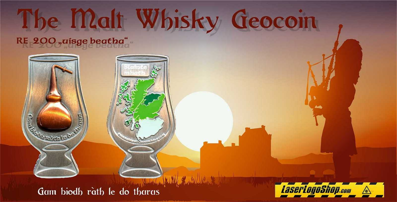 """The Single Malt Whisky Geocoin"" - Edition ""Slainte mhath"""
