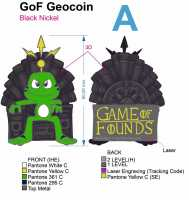 """Game of Founds"" Geocoin - Edition RE ""The Iron Throne"""