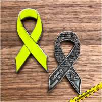 """Green Ribbon Charity Geocoin"" - Regular Edition - Auflage 250 Stück"